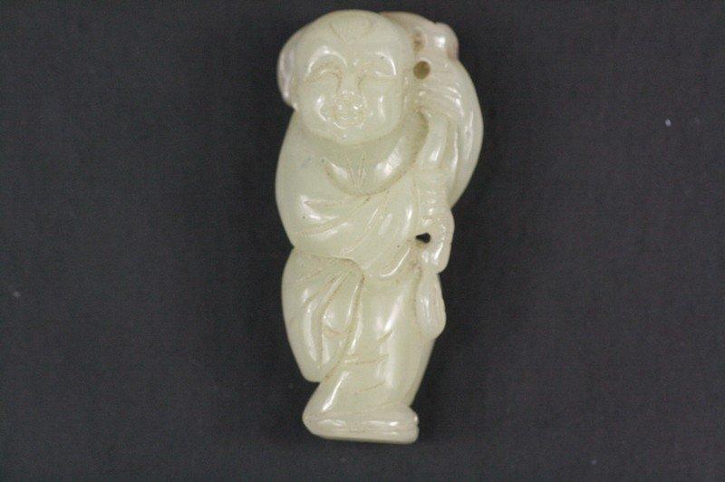 18: Chinese White Jade Figure