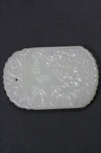 24: Chinese White Jade Pendant