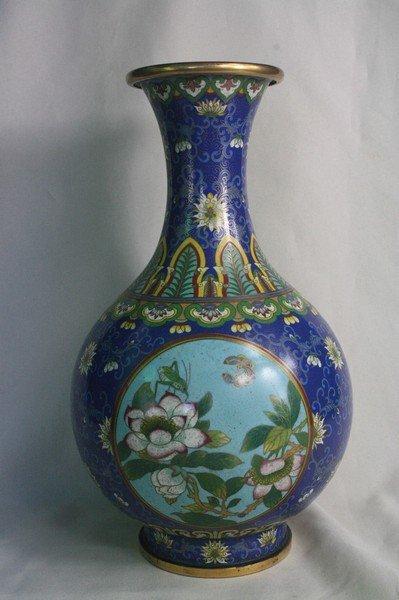 147: Chinese Gilt and Cloisonne Enamel Vase
