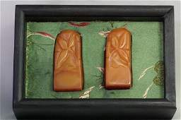 256: A Pair of Chinese Tian-huang Stone Seal