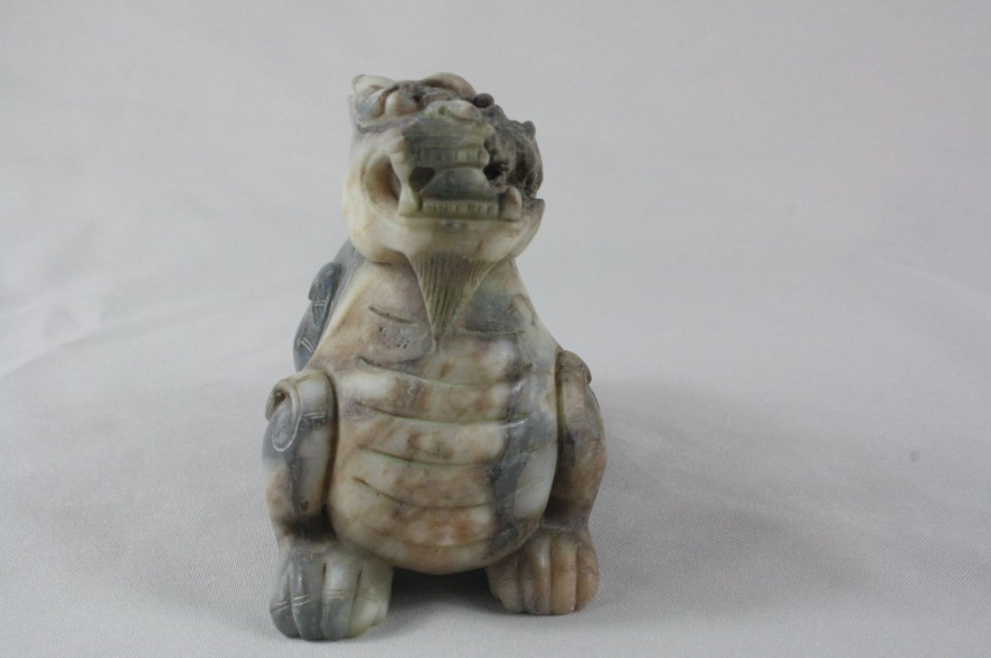 Chinese Carved Ancient  Jade Qilong