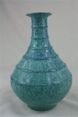 Chinese Flambé-Glazed Porcelin Bottle Vase