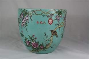 Chinese Turquoise Glazed Porcelain Jar