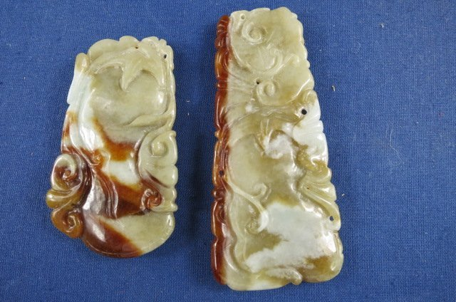 Two Chinese Jade Pendant