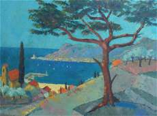 BERLANT Alexandre BERLANT Large Signed Painting French