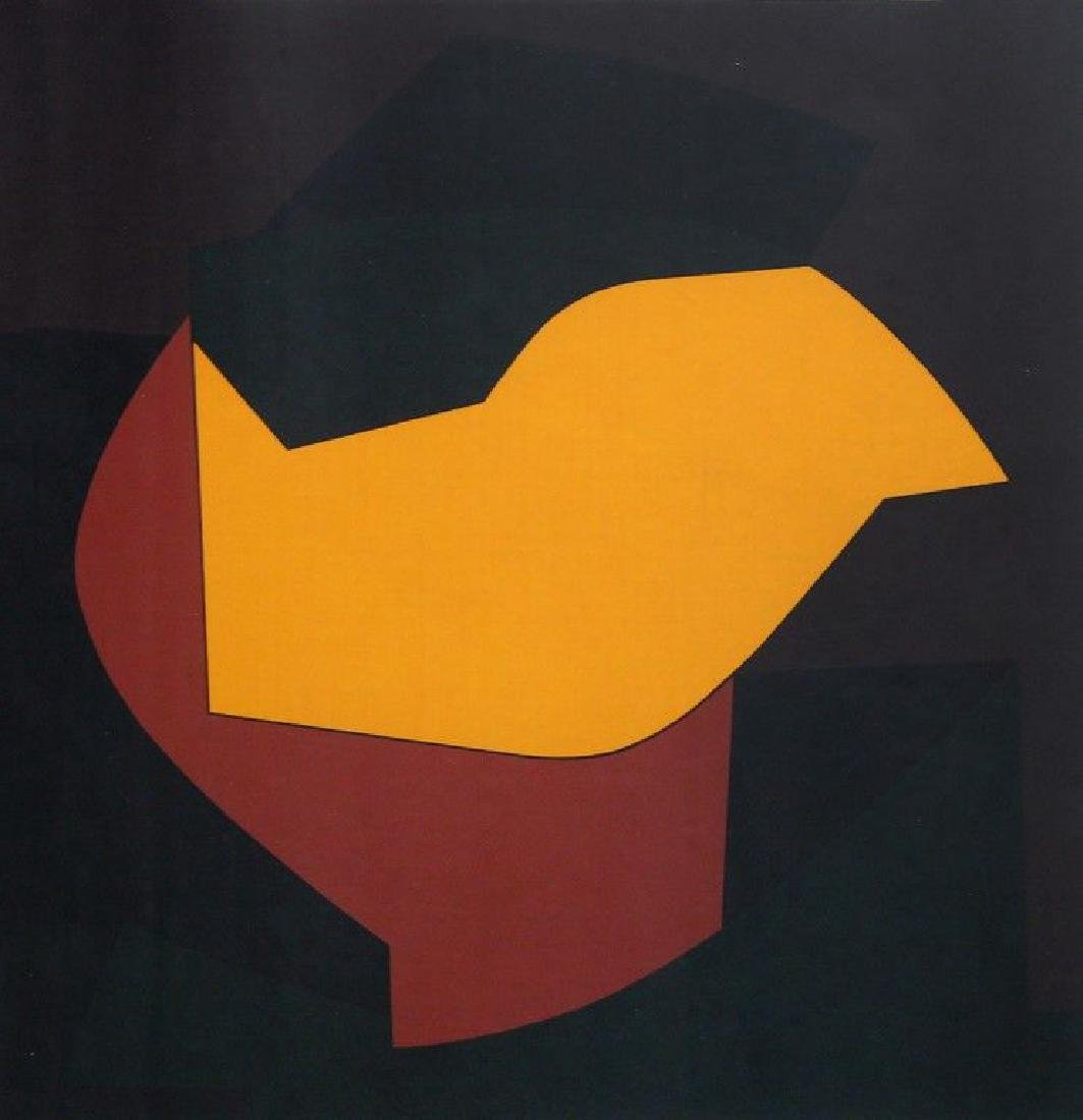 VASARELY VICTOR VASARELY Rare Signed Silkscreen 1952