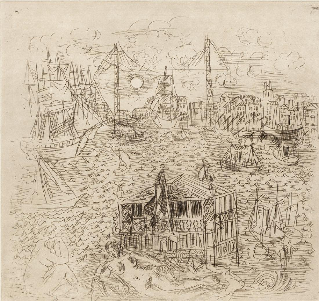 DUFY RAOUL DUFY Hand Signed Etching French