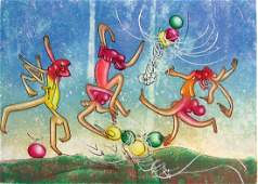 MATTA ROBERTO MATTA Six Original Hand Signed and
