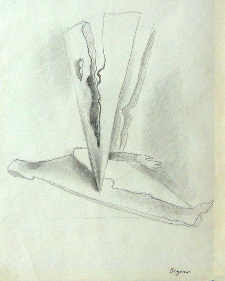 CAMILLE BRYEN Original Hand Signed Graphite Drawing