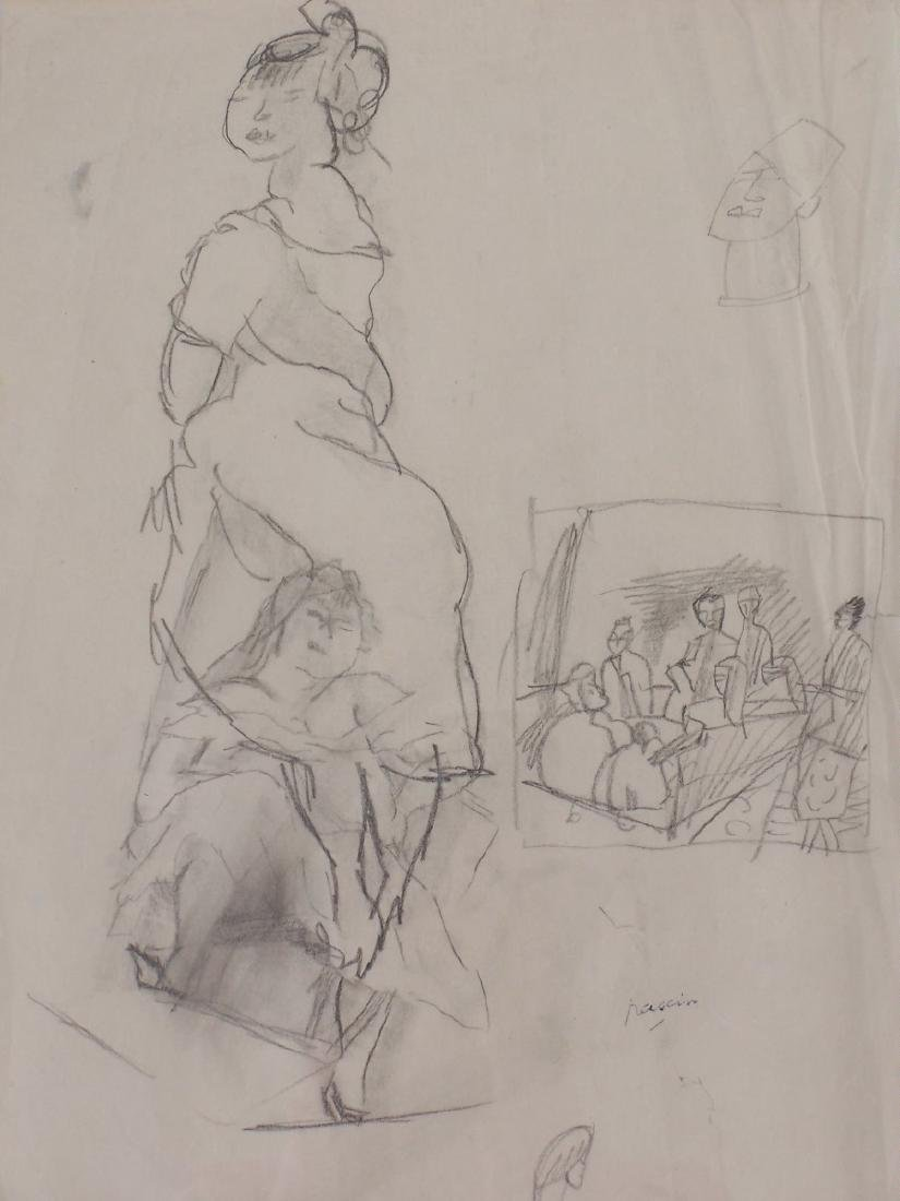 JULES PASCIN Signed Drawing French 1922