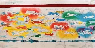 ALIGHIERO BOETTI Hand Signed Screenprint in colours