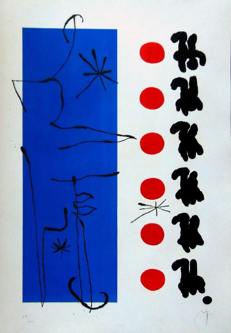 JOAN MIRO Original Hand Signed Lithograph 1960