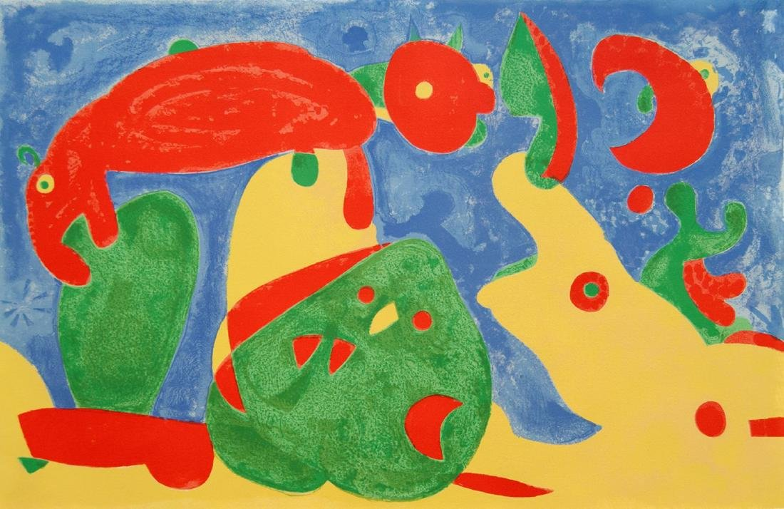 JOAN MIRO Original Hand Numbered Lithograph in Colours