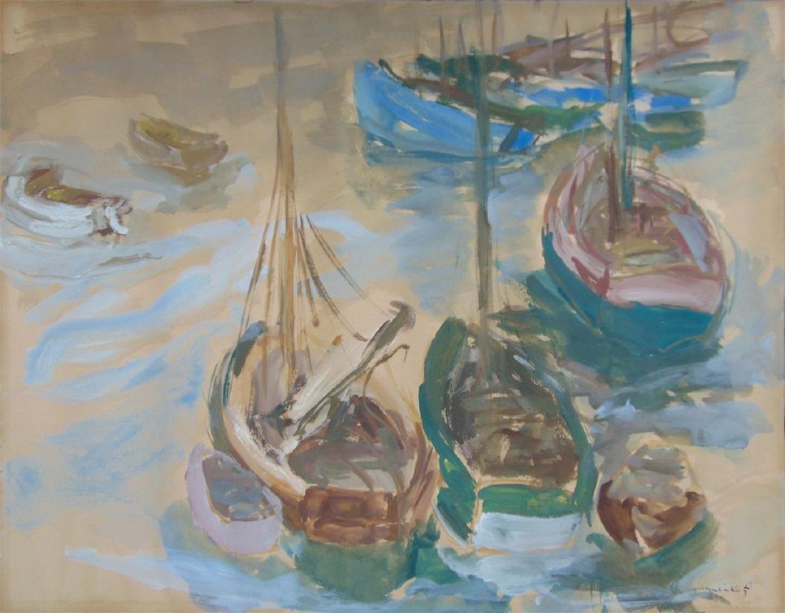 MANE KATZ  Signed Goauche Painting 1938 Russian Art