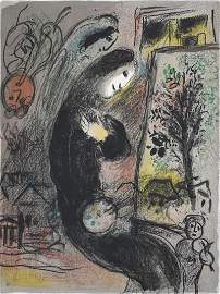 MARC CHAGALL Original Hand Signed Lithograph 1963