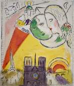 MARC CHAGALL Original Hand Signed Lithograph in Colours
