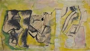 MARIO SIRONI Hand Signed Watercolor Italian Art 1948