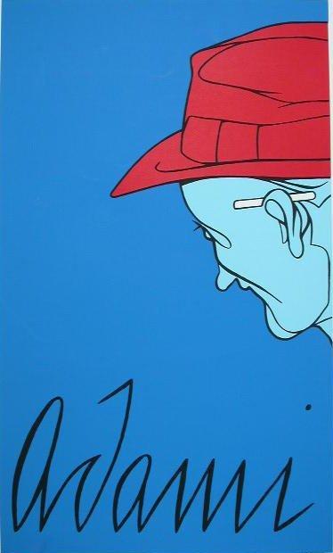 11100: VALERIO ADAMI Color SilkScreen POP ART