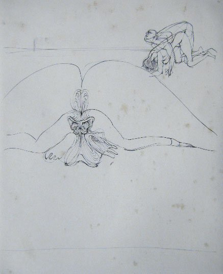 11117: HANS BELLMER Etching French Surrealism