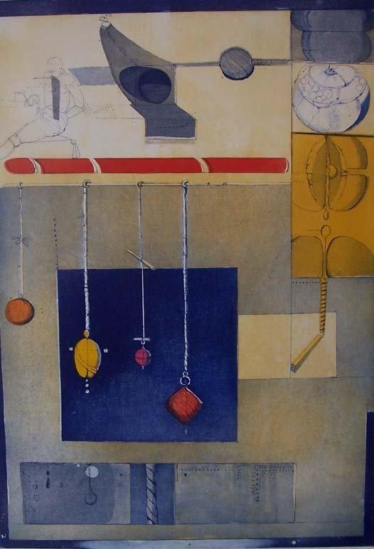 11130: ARTURO BALTAR H.Signed Etching Spanish Art