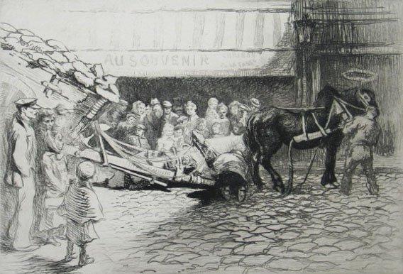 11163: EDGAR CHAHINE H.Signed Etching Armenian 1905