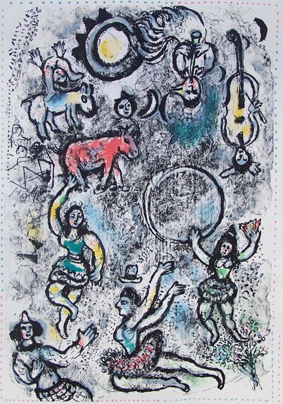 11194: CHAGALL Hand Signed Lithograph Circus