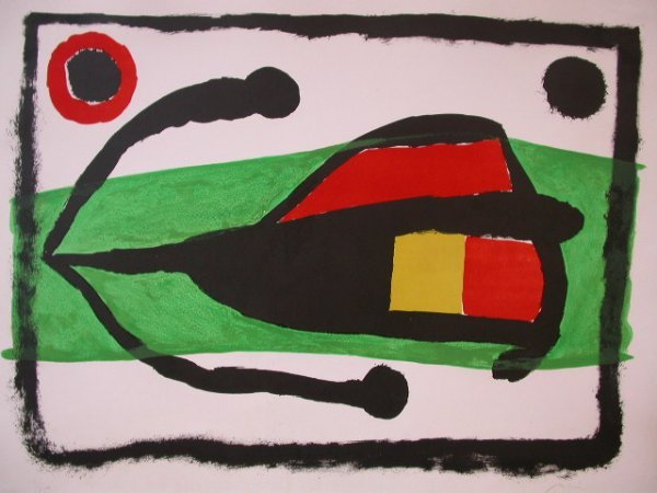 11595: JOAN MIRO Litho Spanish Surrealism 1958