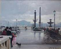 12319 JULES HERVE Oil Painting  French Impressionism