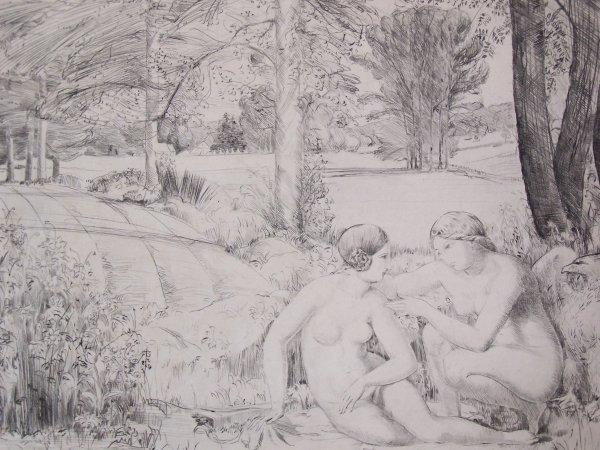 16138: RENE LOUIS BIGNON Sig Etching French