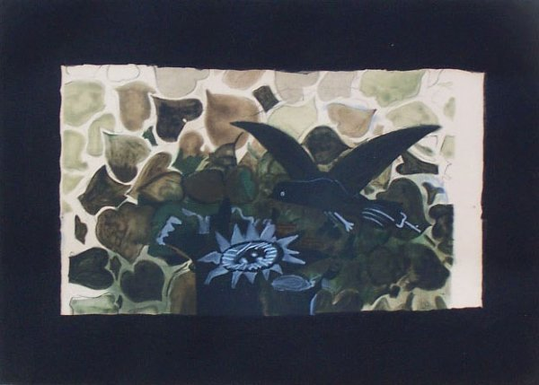 11137: GEORGES BRAQUE H.Signed Etching 1950 Cubism