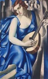 11529: TAMARA DE LEMPICKA Hand Signed Etching Art Deco