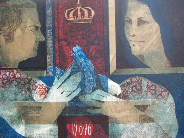 11101: SUNOL ALVAR Sig Lithograph Spanish Art