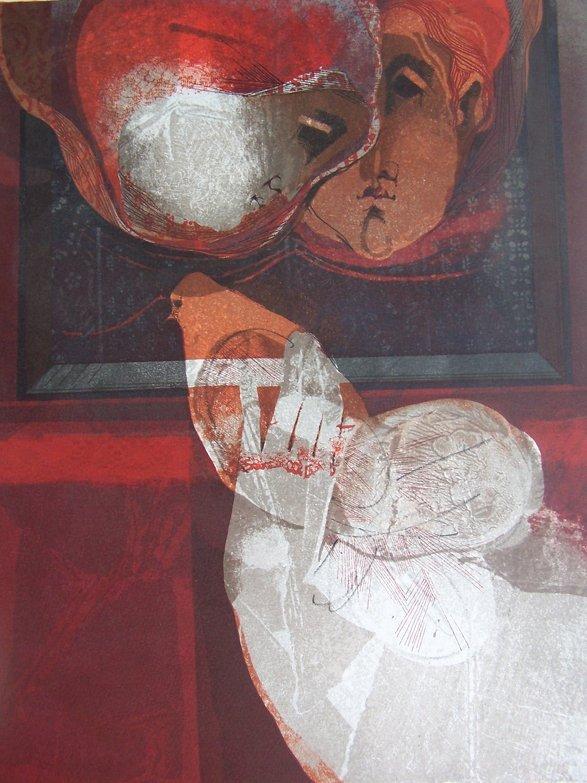 11113: SUNOL ALVAR Sig Lithograph Spanish Art
