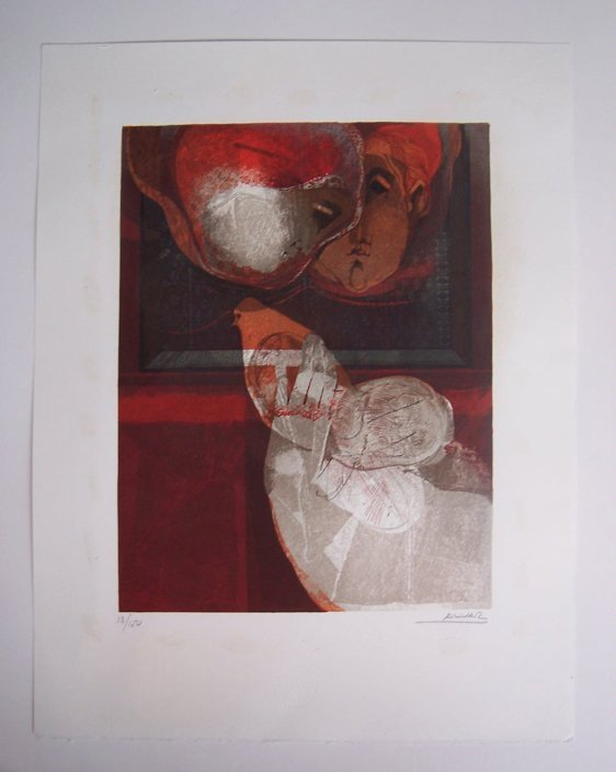 11113: SUNOL ALVAR Sig Lithograph Spanish Art - 2