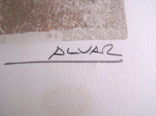 11113: SUNOL ALVAR Sig Lithograph Spanish Art - 3