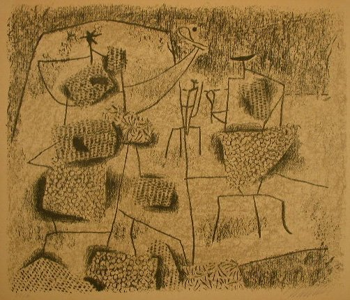 11127: WILLI BAUMEISTER Lithograph German Art