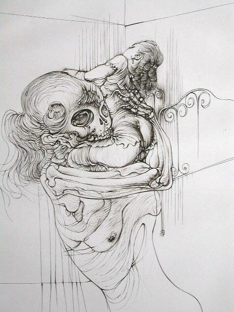 11132: HANS BELLMER 5 Sig.Etchings French