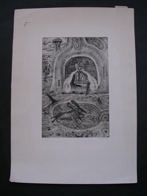 11140: ARIK BRAUER Etching Austrian Surrealism - 2