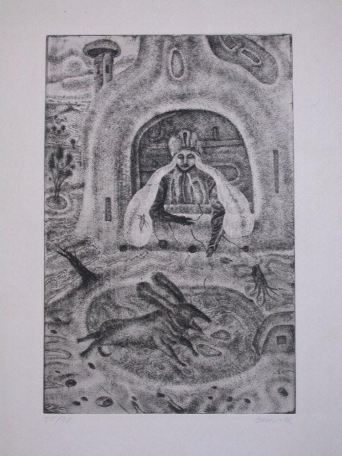 11140: ARIK BRAUER Etching Austrian Surrealism - 5