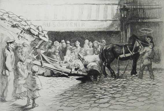 11169: EDGAR CHAHINE H.Sig. Etching Armenian 1905