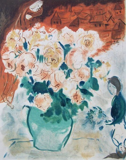 11202: CHAGALL Hand Signed Color Lithograph