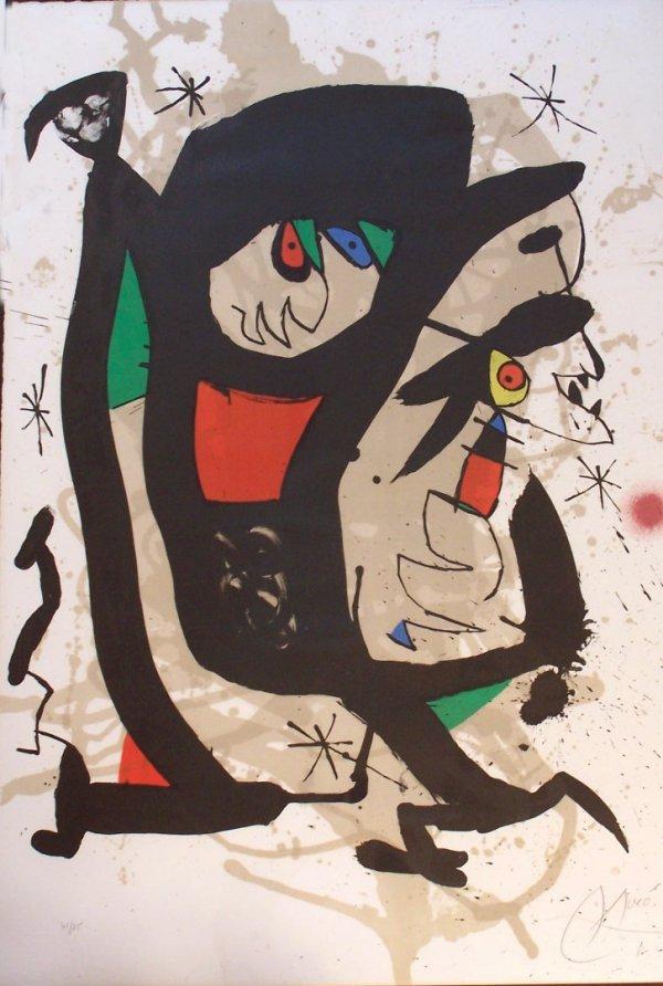11594: JOAN MIRO Litho Spanish Surrealism 1973