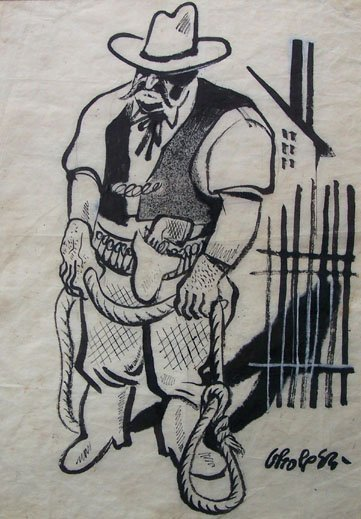 12300: WILLIAM GROPPER Hand Signed Drawing American