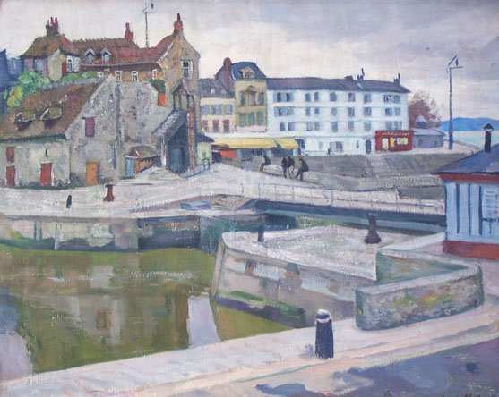 13285: ARNOLD LAKHOVSKY Painting Russian Art