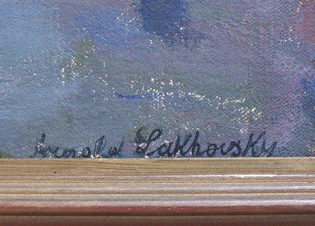 13285: ARNOLD LAKHOVSKY Painting Russian Art - 3