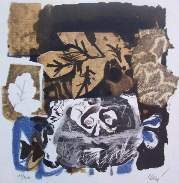 11170: ANTONI CLAVE Lithograph Spanish Art Abstract