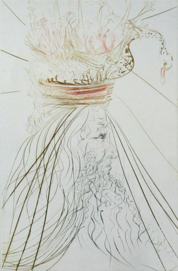 11245: SALVADOR DALI Hand Signed Numbered Etching 1970