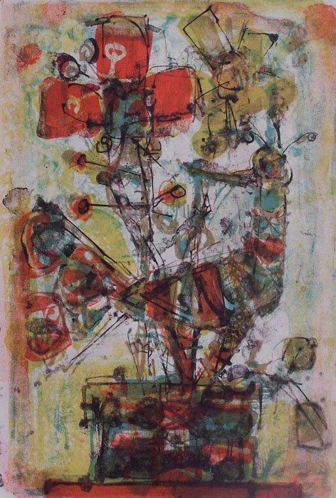 11114: AIZPIRI PAUL AIZPIRI Sig.Color Lithograph French