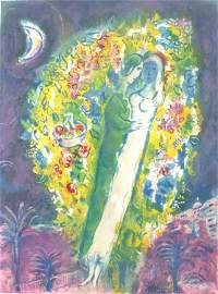 11179: CHAGALL CHAGALL Hand Signed Lithograph, 1964