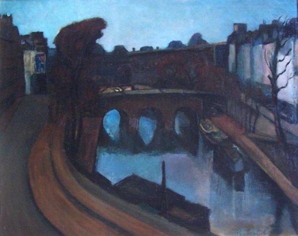 14390: PERLROTT VILMOS PERLROTT CSABA Painting 1910 Hun